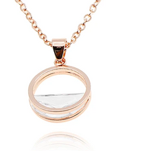Load image into Gallery viewer, Minimal Rose Gold Necklace with Pendant