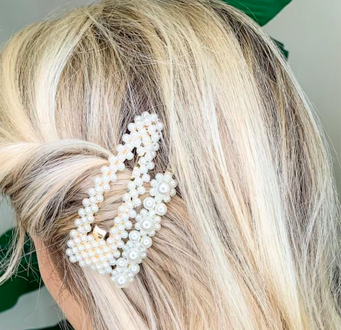 Chic Pearly Hair Pin Gold