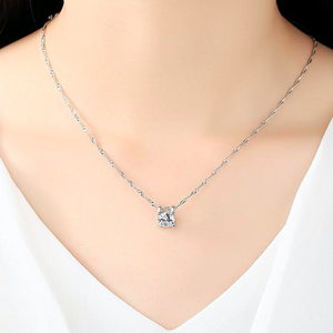 Chic Silver Sparkle Necklace