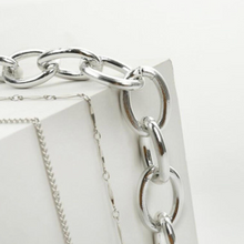 Load image into Gallery viewer, Lock Layered Necklace Silver