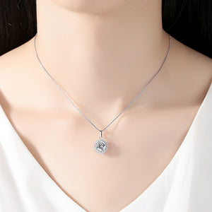 Minimal Sparkling Chunk Necklace Silver