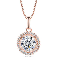 Load image into Gallery viewer, Minimal Sparkling Chunk Necklace Rose Gold