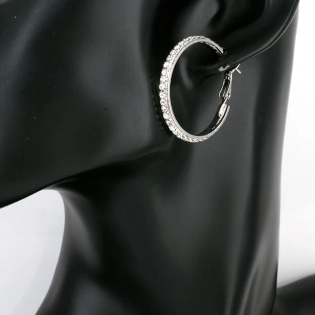 Bold Silver Big Sparkle Hoops
