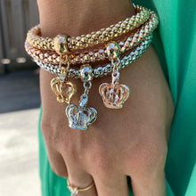 Load image into Gallery viewer, Abundance Popcorn Bracelets with Crown Pendants