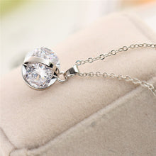 Load image into Gallery viewer, Chic Silver Necklace With Crystal Chunk