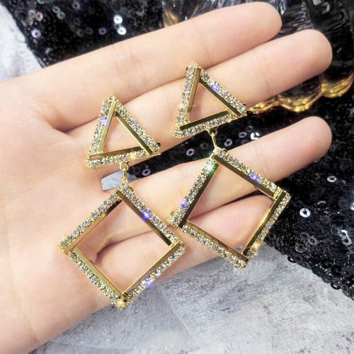 Abundance Sparkle Triangle Earrings