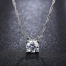 Load image into Gallery viewer, Chic Silver Sparkle Necklace