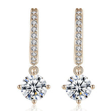Load image into Gallery viewer, Chique golden short drop sparkle earrings