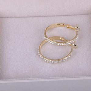 Bold and Gold Big Sparkle Hoops