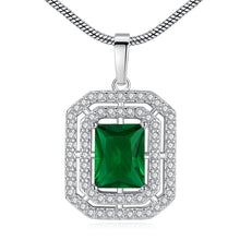 Load image into Gallery viewer, Chic Emerald Gemstone Necklace