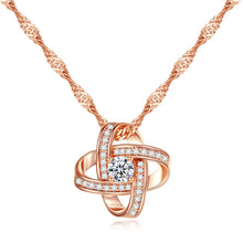 Load image into Gallery viewer, Infinity Rose Gold Sparkle Necklace