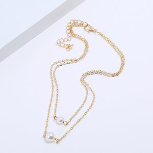 Layered Necklace with Pearls