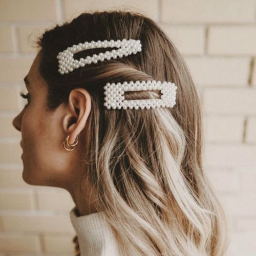 Chic Pearly Hair Clip Rectangle