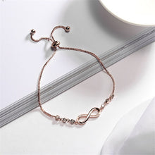 Load image into Gallery viewer, Chiq Infinity Golden Adjustable Crystal Bracelet