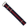 Premium Nato Strap in Navy Red with Polished Silver Buckle (22mm) - Nomadstore Singapore