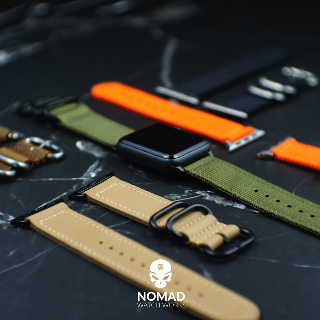 Apple Watch Nylon Zulu Strap in Olive with Black Buckle (42 & 44mm) - Nomad watch Works