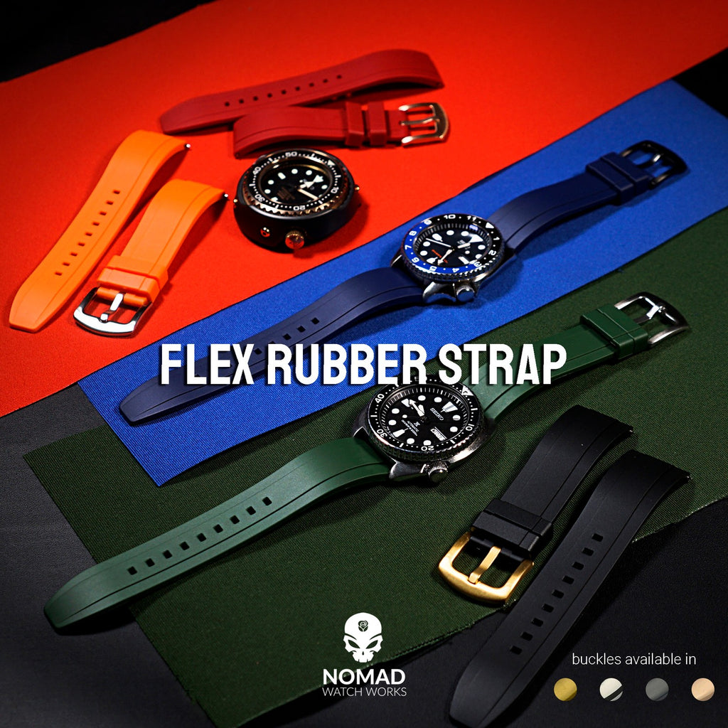 Flex Rubber Strap in Clear (22mm)