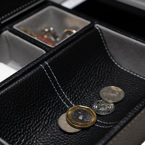 Leather Valet Tray in Black