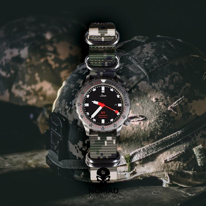 Heavy Duty Zulu Strap in Digital Camo with Silver Buckle (22mm) - Nomad watch Works
