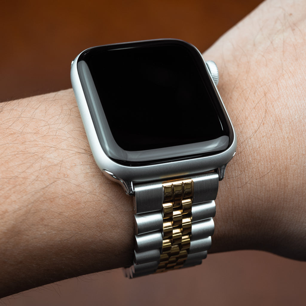 Apple Watch Jubilee Metal Strap in Silver and Yellow Gold (42 & 44mm)