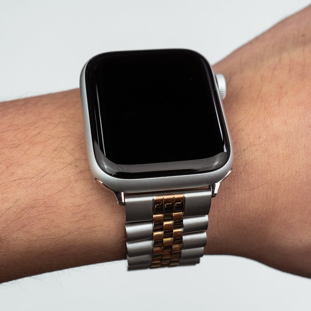 Apple Watch Jubilee Metal Strap in Silver and Rose Gold (42 & 44mm)