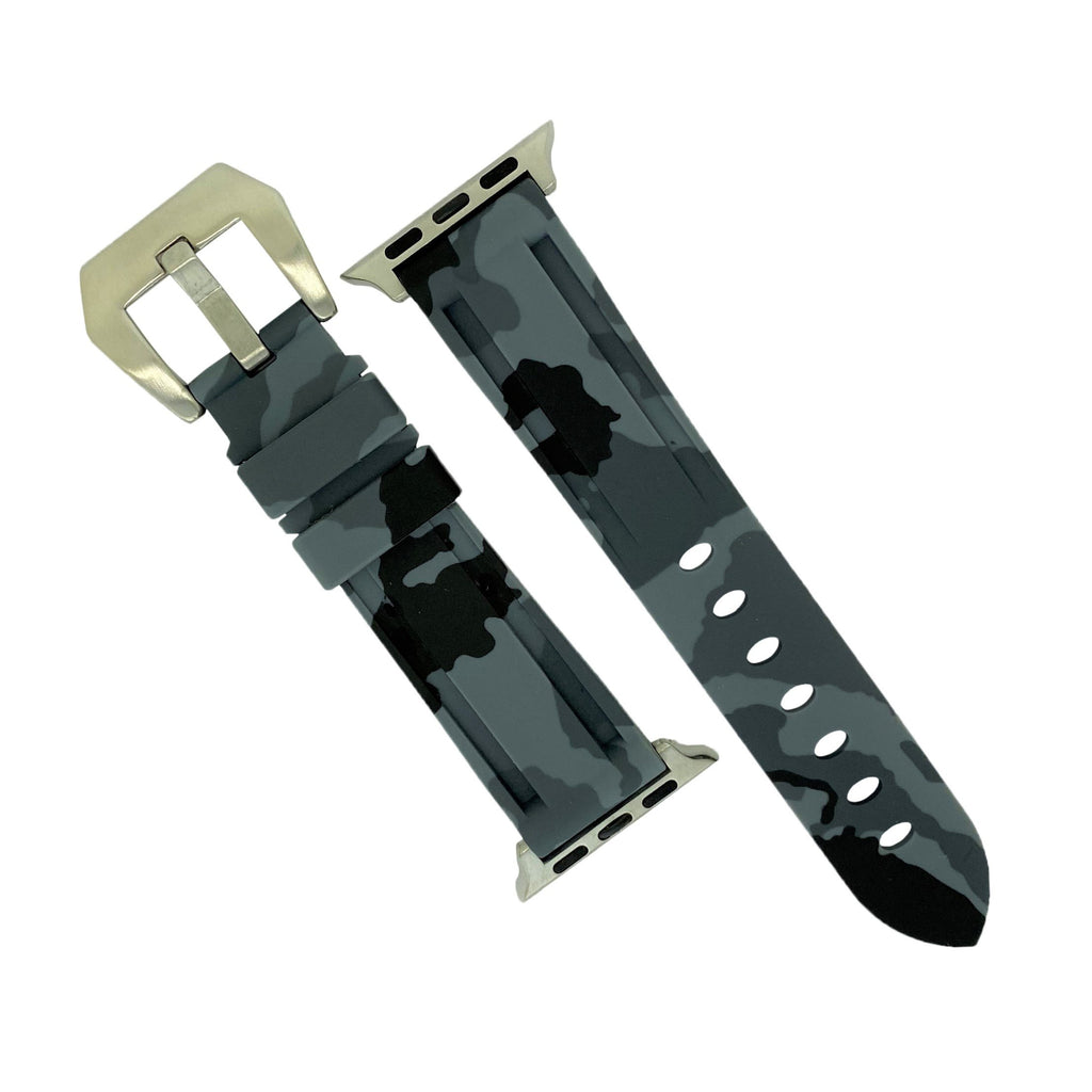 Apple Watch V3 Silicone Strap in Grey Camo (38 & 40mm)