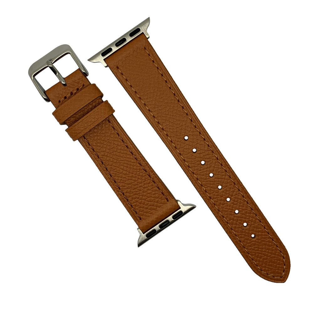 Emery Dress Epsom Leather Strap in Tan w/ Silver Buckle (38 & 40mm) - Nomad watch Works