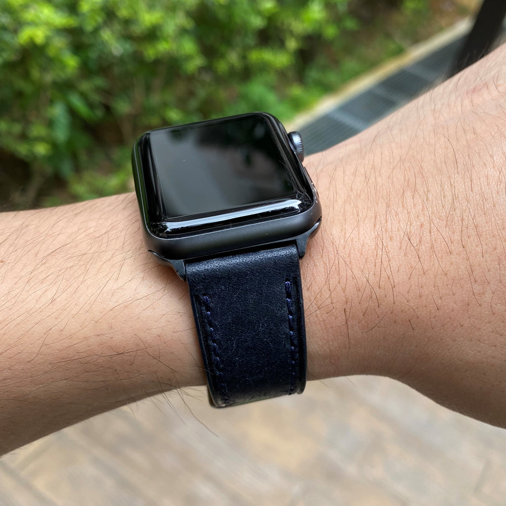 Emery Signature Pueblo Leather Strap in Navy (42 & 44mm)