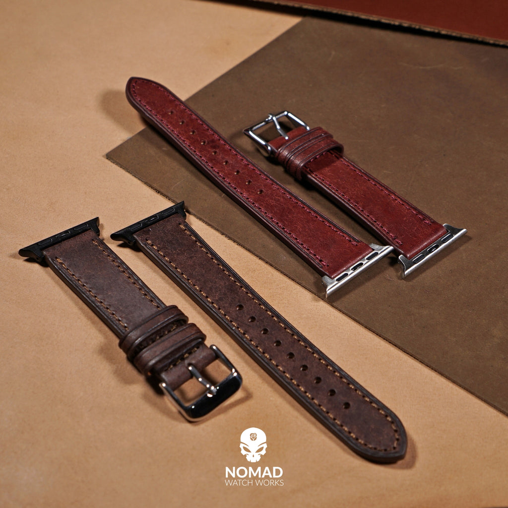 Emery Signature Pueblo Leather Strap in Brown (38 & 40mm)