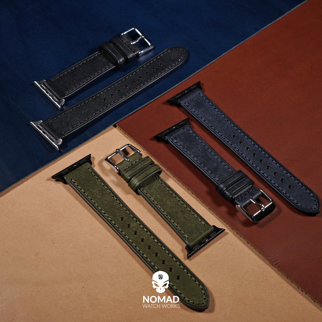 Emery Signature Pueblo Leather Strap in Olive (42 & 44mm)