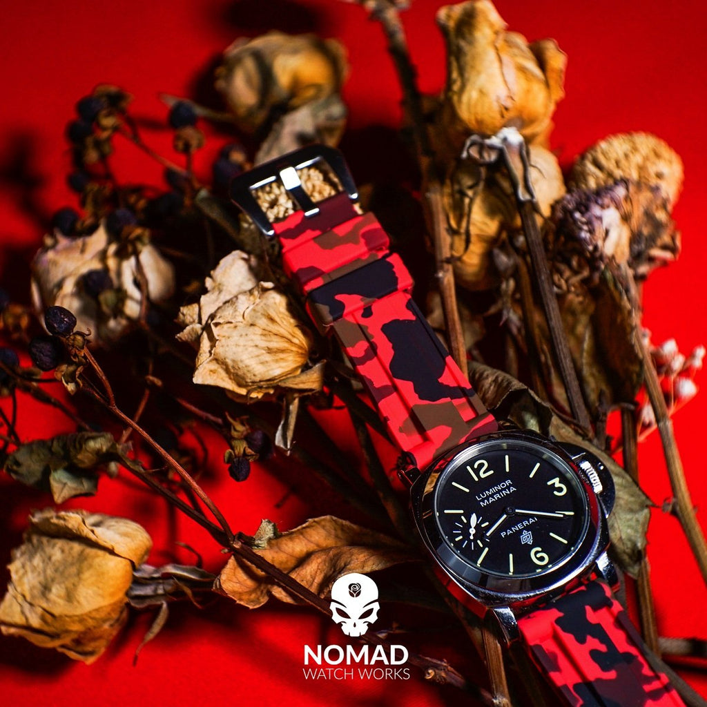 V3 Silicone Strap in Red Camo (22mm)