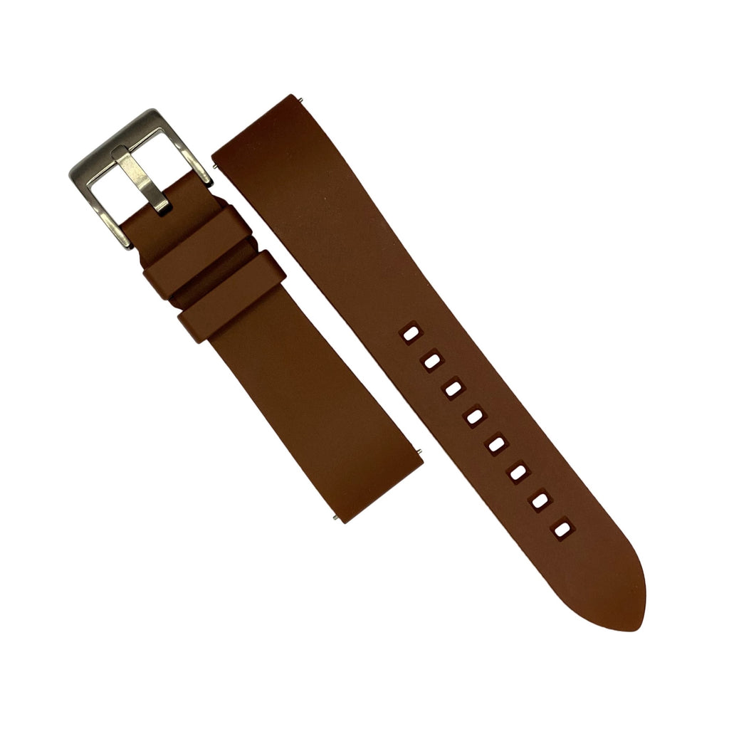 FKM Rubber Strap in Brown (22mm)