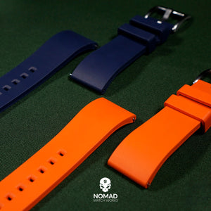 FKM Rubber Strap in Orange (22mm)