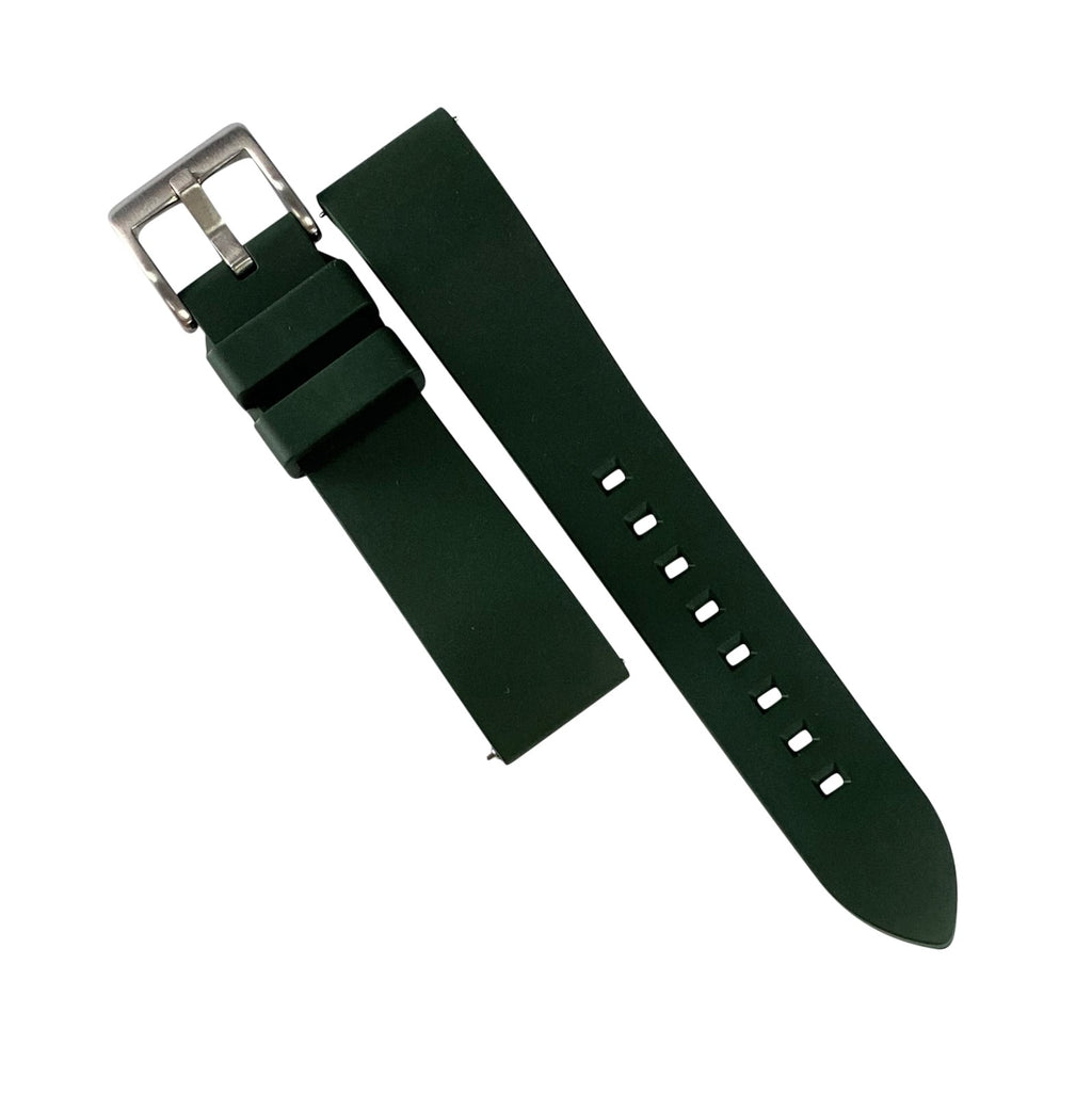 FKM Rubber Strap in Green (22mm)