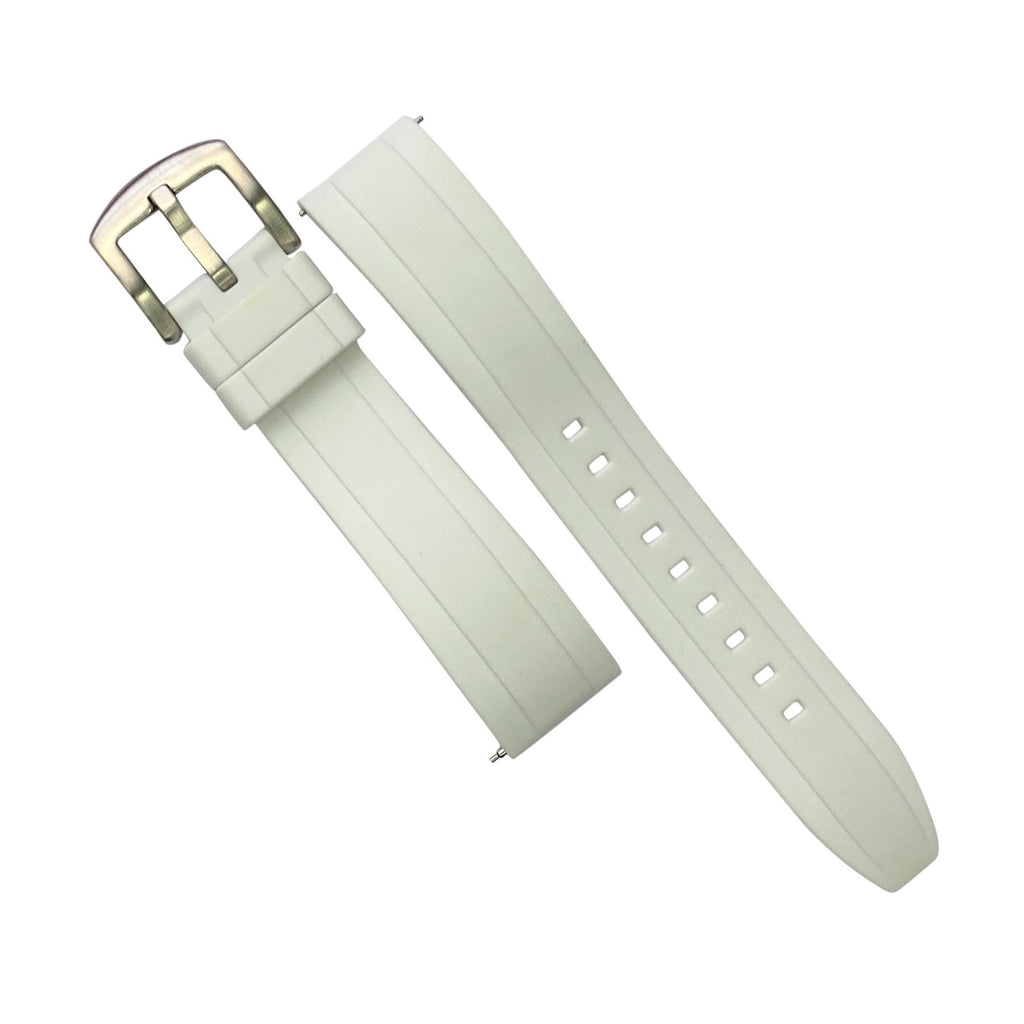 Flex Rubber Strap in White (22mm)