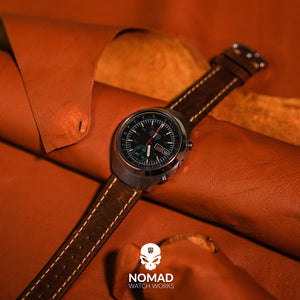 Quick Release Modern Leather Watch Strap in Brown (20mm)