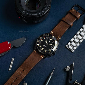 N2W Vintage Horween Leather Strap in Chromexcel® Brown (18mm)