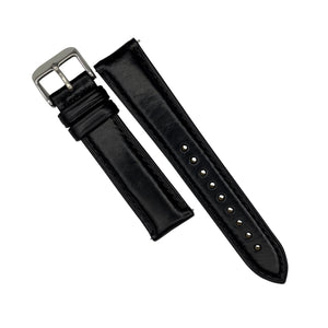N2W Classic Horween Leather Strap in Chromexcel® Black (22mm)