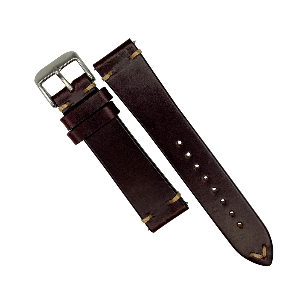 N2W Vintage Horween Leather Strap in Chromexcel® Burgundy (22mm)