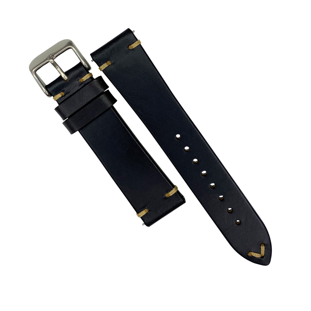 N2W Vintage Horween Leather Strap in Dublin Navy (20mm)