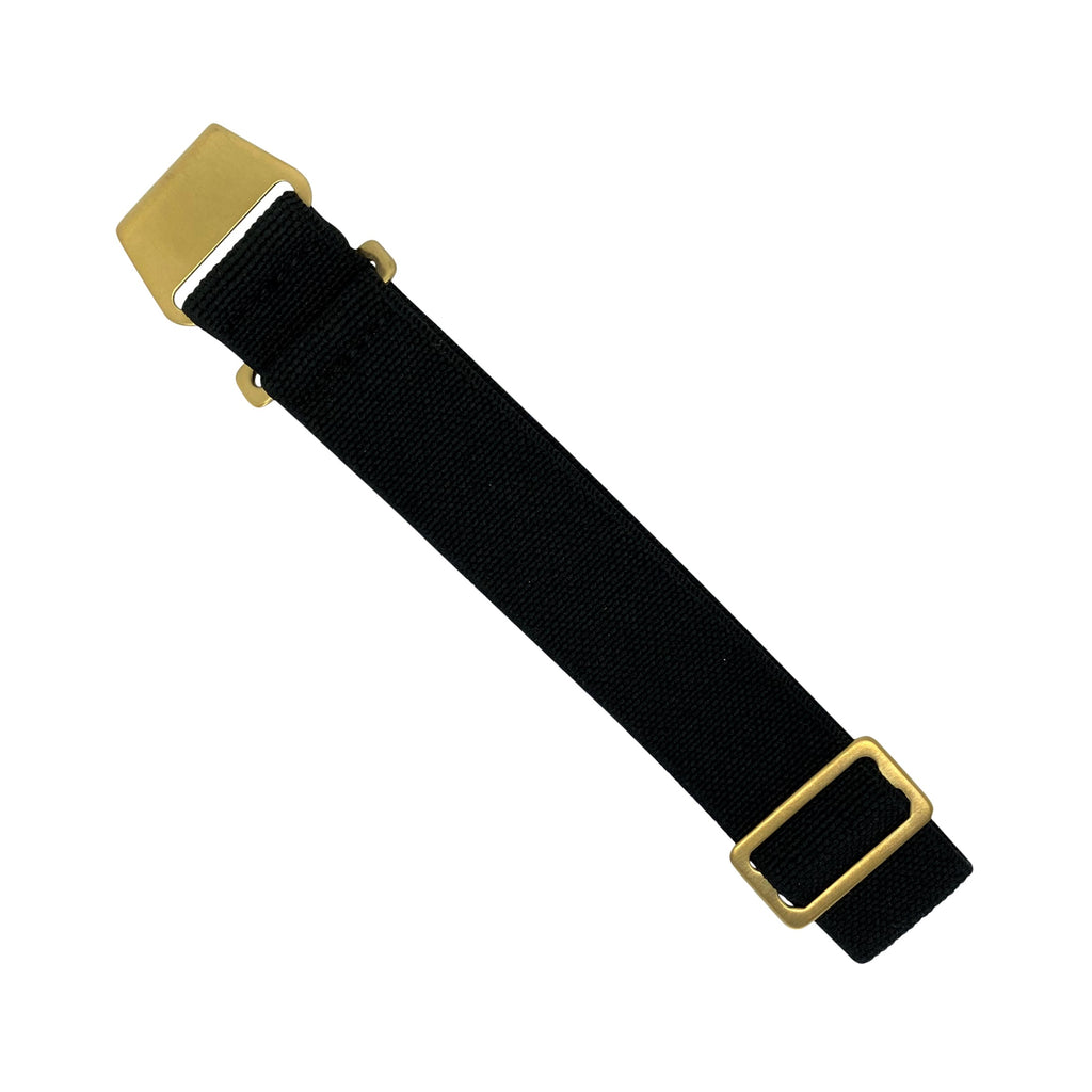 Marine Nationale Strap in Black with Bronze Buckle (20mm)