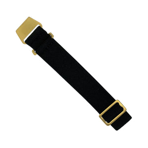 Marine Nationale Strap in Black with Bronze Buckle (22mm)