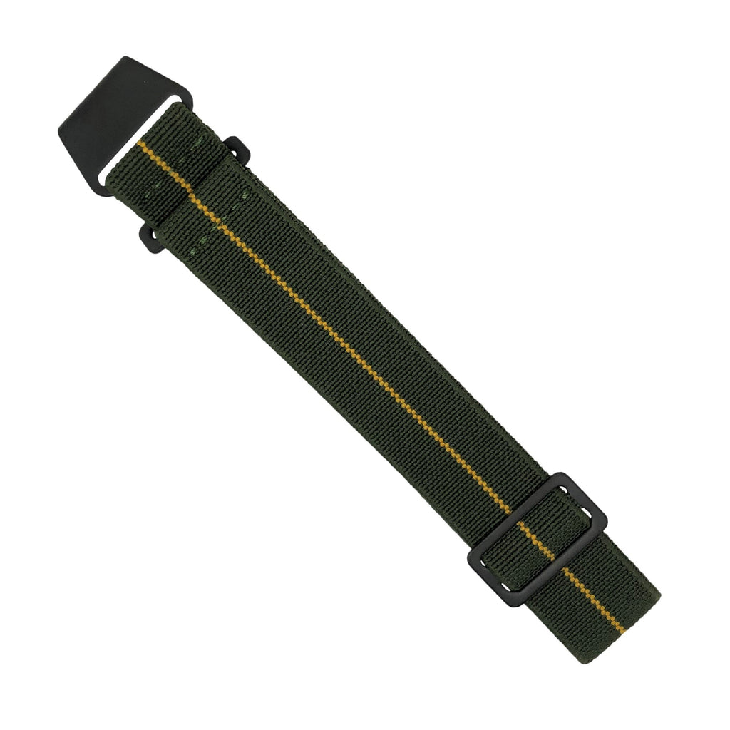 Marine Nationale Strap in Olive Yellow with Black Buckle (22mm)