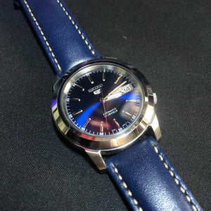 Quick Release Classic Leather Watch Strap in Navy (18mm)