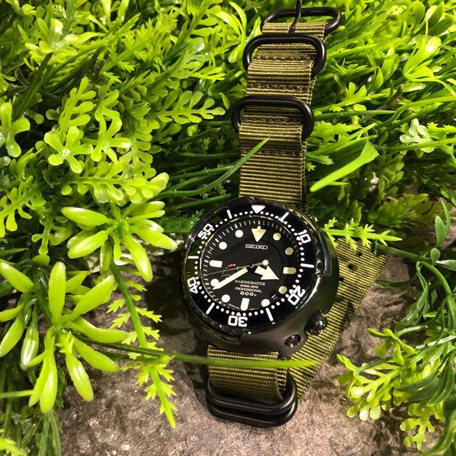 Heavy Duty Zulu Strap in Olive with PVD Black Buckle (24mm)