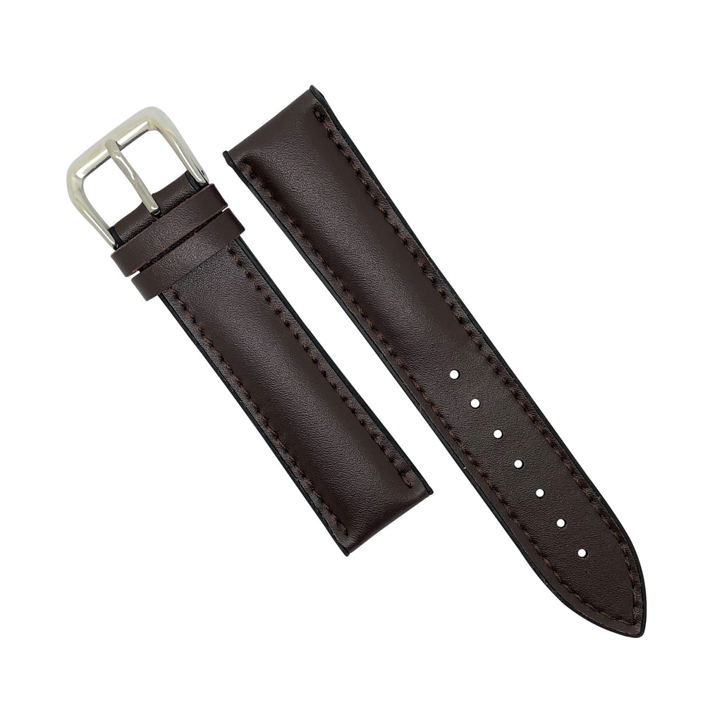 Performax Classic Leather Hybrid Strap in Brown (18mm)