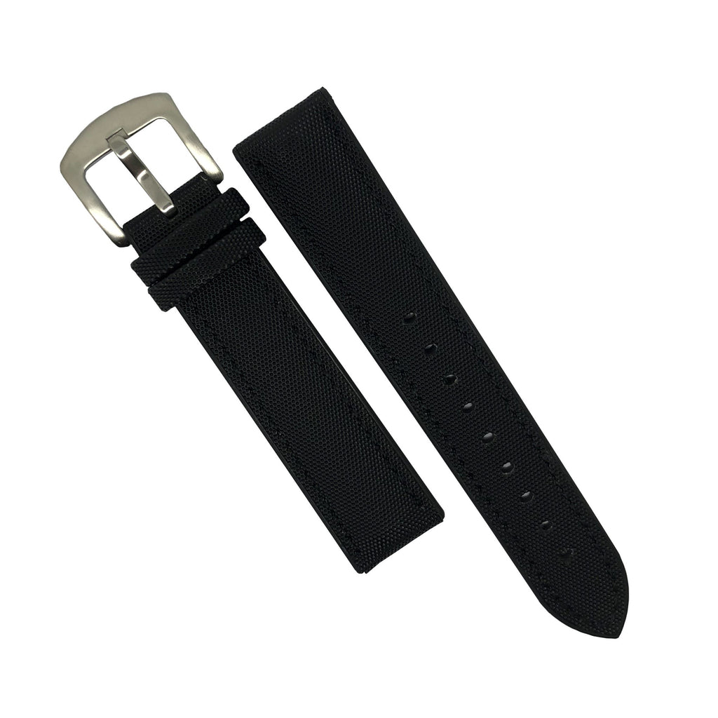 Performax N1 Hybrid Strap in Black with Black stitching (22mm)