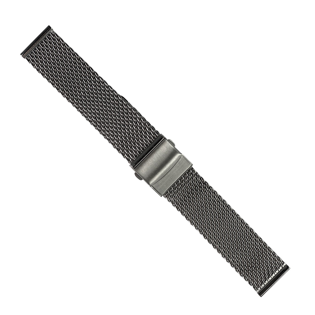 Premium Milanese Mesh Watch Strap in Silver (22mm)