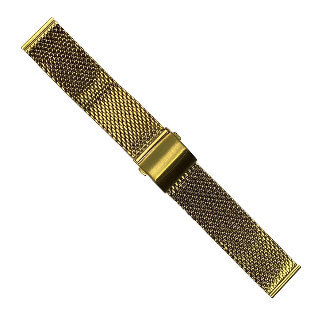 Premium Milanese Mesh Watch Strap in Yellow Gold (20mm)