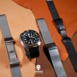 Premium Milanese Mesh Watch Strap in Black (22mm)